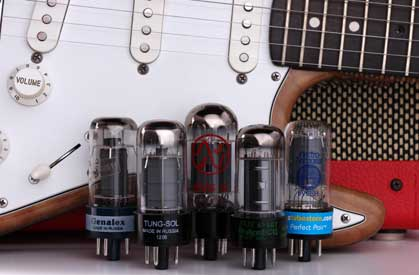 6V6 Audio Vacuum Tubes With Guitar Amp