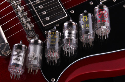 EF86 Tubes on guitar strings