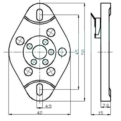 Www Thetubestore Com 5 Pin Ceramic Socket For 807