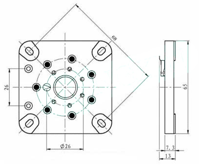 cube with an 8 pin relay wiring diagrams tube pin diagrams 7 pin gold socket for 6c33c - www.thetubestore.com
