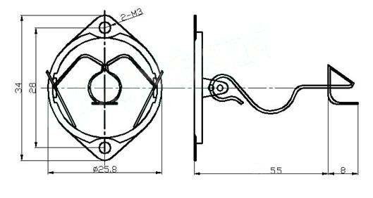 wire retainer for el84    6bq5 types